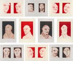 """""""Alte Freunde """" by Thomas Schuette. Suite of ten line etchings with open bite and carborundum. Edition of 35. Each 31 x 20 ½ inches (78.7 X 52 cm) at Carolina Nitsch, 2012 IFPDA Print Fair."""