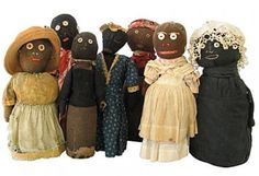 Cloth bottle dolls from the Pat Hatch collection