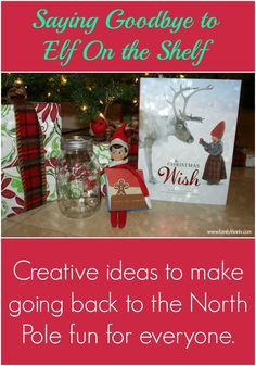 Elf On The Shelf Leaving - Creative Ideas to Say Goodbye | Our Knight Life #elfontheshelf Christmas Hacks, Simple Christmas, Xmas Elf, Christmas Holidays, Aspen, Creative Ideas, Teaching, Girl Elf, Peppermint