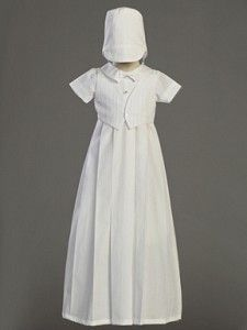 Boys Cotton Christening Gown