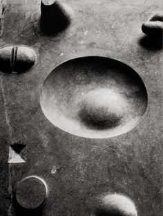 Noguchi -- Contoured Playground, 1941 - Cubes, cones, spheres, cylinders, and pyramids - but does it float