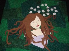 Quilt  Contemporary  Art  Sleeping Girl in a by malibuquilts, $195.00