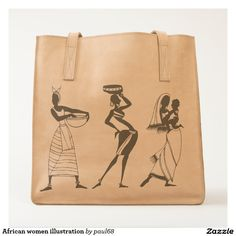 African women illustration tote