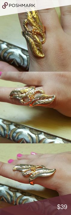 SALE! 18k gold plated leaf ring Brand new never used 18k gold plated leaf ring. Chupchick Jewelry Rings