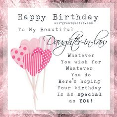 Happy Birthday Daughter In Law Quotes. QuotesGram