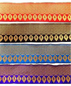 Saree multi border heavy