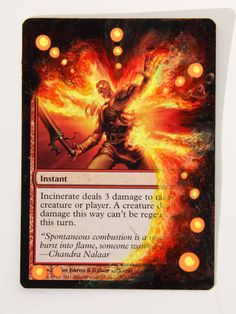 Incineration Textless Promo Incinerate Magic mtg