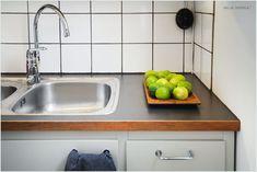 50-luvun keittiö 04 Wooden Kitchen, Vintage Kitchen, Interior Design, Retro, Dancing, Interiors, Home Decor, Holiday, Timber Kitchen