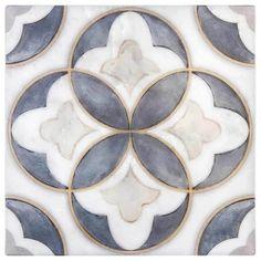 Mullholland Pattern (Charcoal) on Carrara Art Deco, Tiles Texture, Stone Tile Texture, Stone Tiles, Cement Tiles, Decorative Tile, Reno, Tile Patterns, Tile Design