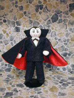 Dracula Clothespin Doll Halloween Vampire by clotheslinecuties