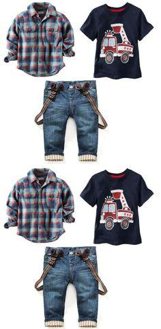 3Pcs Boy Party Fashion Clothing Sets b5ca079cf873