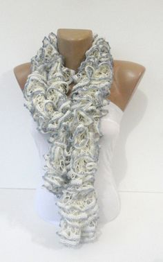 knit+scarfruffle+scarffashion+scarfknitting+by+seno+on+Etsy,+$25.00