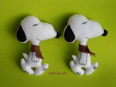 Prendedores de cortina do Snoopy, em feltro.