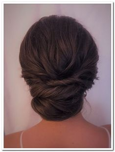 Textured updo by chignon updo short hair, chignon updo wedding, bridal hair Chignon Updo Short Hair, Low Chignon, Loose Updo, Chignon Updo Wedding, Bridesmaid Hair Updo, Prom Hair Updo, Bridesmaid Ideas, Up Hairstyles, Wedding Hairstyles