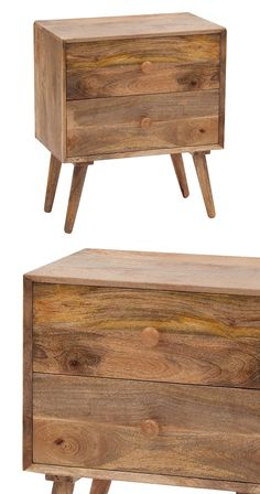 Shop modern furniture and home décor for every room in your home, ranging in style from mid-century to industrial to bohemian and more. Wood Nightstand, Wood Dresser, Mango Wood Furniture, Furniture Decor, Mid Century Rustic, Mid Century Dresser, Scrap Wood Projects, Bedroom Night Stands, Wood Beds