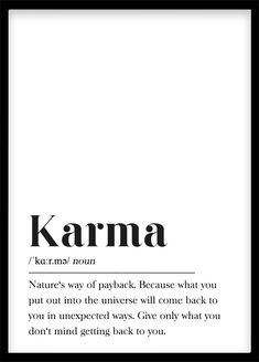 Karma Definition Print Printable Wall Art Print Happy Wall A.- Karma Definition Print Printable Wall Art Print Happy Wall Art Motivation Gift Typography Buddhism, Law of Attraction, Footnote Karma Definition Print Printable Wall Art Print Happy Wall Art Citations Karma, Karma Frases, Karma Quotes Truths, Words Quotes, Wise Words, Me Quotes, Funny Karma Quotes, Karma Sayings, Drake Quotes