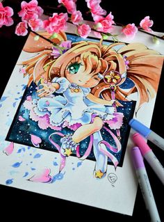 Card Captor Sakura Water Color Painting by Lighane on DeviantArt