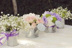 Outdoor centerpiece    by Purple Effect Events