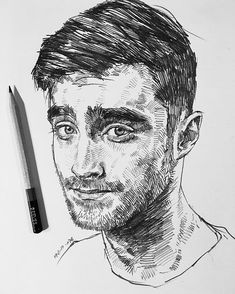 Pin by Victorrria on Портреты Drawing people Ink drawing techniques Pencil portrait