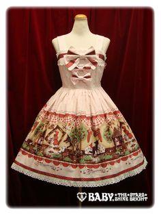 """137★265 My little red riding hood柄ドットリボンジャンパースカート """"My little red riding hood"""" polka dot ribbon jumper skirt"""
