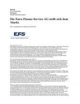 Die Euro-Finanz-Service AG Stellt Sich Dem Markt