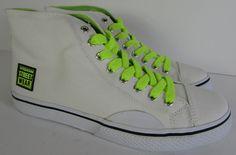 b4a2a8903f3  55 Vision Street Wear Womens Canvas Hi Fashion Skate Shoe White Yellow