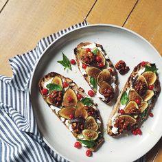 Tartine overdose, sticky iPhone screen, totally worth it. raisin walnut bread, goat cheese, figs…