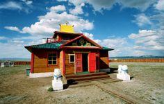 Buddhist datsan, Tuva #culture #buddhist