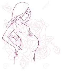Vector Illustration Of Pregnant Woman Royalty Free Cliparts ...