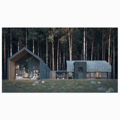 Swipe left to see the whole image! Dream House is designed and visualized by What a stunning visual. Whole Image, Black Barn, Eco Architecture, Contemporary Cottage, Construction Design, Tiny House, Farm House, House Made, Modern Farmhouse