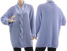 Luxurious super soft chunky hand knitted oversized von classydress, $490.00