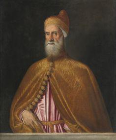 FOLLOWER OF TIZIANO VECELLIO, CALLED TITIAN PIEVE DI CADORE CIRCA 1485/90 (?) - 1576 VENICE PORTRAIT OF FRANCESCO DONÀ (1468 -1553), DOGE OF VENICE