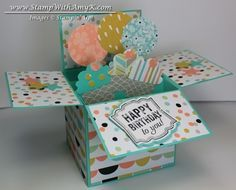 Stamp With Amy K: Card in a Box ~~ uses 4 1/4 x 12 as card base