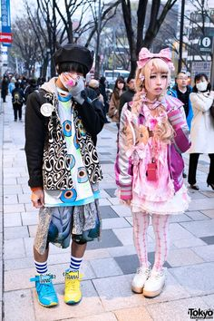 Keith Haring x #Reebok w/ #Trolls, Nile Perch, KTZ & #Barbie in #Harajuku. #tokyofashion #streetsnaps