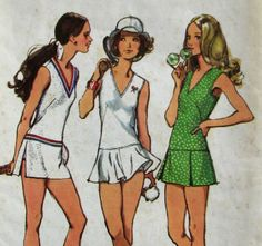 Vintage 70's Simplicity 9920 Tennis Dress Pattern Bust 36