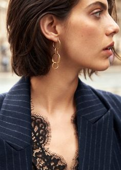 & Other Stories   Inspiration   Lace Body   Multi Hoop Earrings