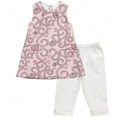 Young Versace Baby Girls Chain Print Dress & Leggings Set at Childrensalon.com