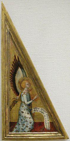Matteo Giovannetti, Annonciation, peinture sur bois, v1360, Paris, Musée du Louvre
