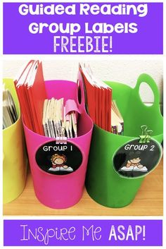 Organizing Guided Reading Materials - Inspire Me ASAP Guided Reading Organization, Guided Reading Activities, Guided Reading Lessons, Guided Reading Groups, Classroom Organisation, Teacher Organization, Classroom Decor, Classroom Supplies, Teacher Binder
