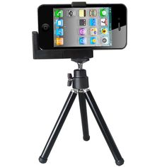 [USD1.89] [EUR1.79] [GBP1.38] iPhone /Camera Tripod /Universal Mounting Metal Holder(Black)