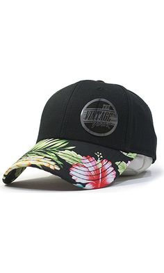 Premium Floral Hawaiian Cotton Twill Adjustable Snapback Hats Baseball Caps (Varied Colors) (Black/Hawaiian) Best Price