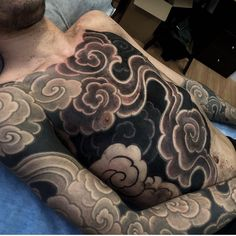 Welcome back Kristian! Japanese Cloud Tattoo, Tattoo Japanese Style, Japanese Sleeve Tattoos, Full Sleeve Tattoos, Smoke Tattoo, Fire Tattoo, Tattoo On, Aztec Tattoo Designs, Name Tattoo Designs