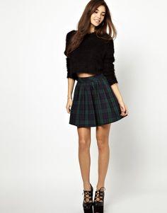 Daisy Street Plaid Mini Skirt