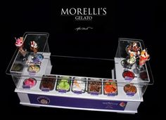 Morelli's Gelato - Luxury Ice Cream Counter - Artisan fully Handmade Miniature in 12th scale. From After Dark miniatures.