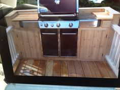 #PinMyDreamBackyard  Small elevated deck area for grill
