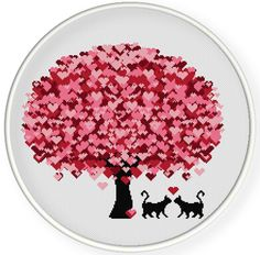INSTANT DOWNLOAD,Free shippingCounted Cross-Stitch PDF,Love cats ,valentine's day, wedding gift,zxxc0655