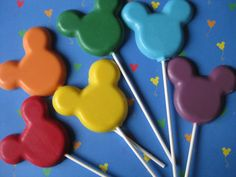 Mickey Mouse Chocolate Lollipop Suckers 10 by TreatsForMySweets, $18.00
