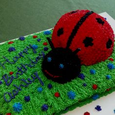 Ladybug Cake-Ashley's 4th Birthday Cake