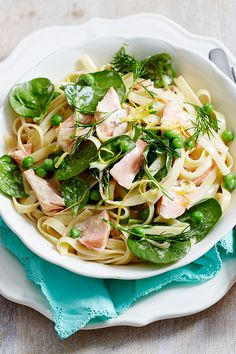 Quick, easy and so creamy, this fresh salmon and dill fettuccine makes the perfect spring dinner.