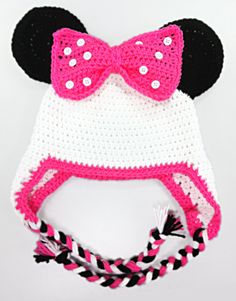 Hey, I found this really awesome Etsy listing at https://www.etsy.com/listing/106674762/minnie-mouse-hat-white-pink-black